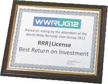 Best Return on Investment Award at WWRUG11, WWRUG12 and WWRUG13